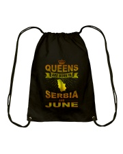 SERBIA-GOLD-QUEES-JUNE Drawstring Bag tile