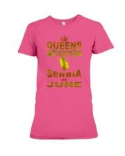 SERBIA-GOLD-QUEES-JUNE Premium Fit Ladies Tee thumbnail