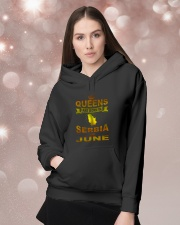 SERBIA-GOLD-QUEES-JUNE Hooded Sweatshirt lifestyle-holiday-hoodie-front-1