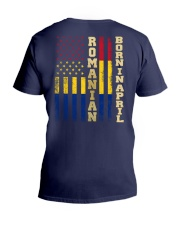 ROMANIAN-BORN-IN-APRIL-COOL V-Neck T-Shirt thumbnail