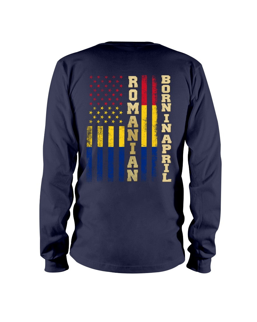 ROMANIAN-BORN-IN-APRIL-COOL Long Sleeve Tee