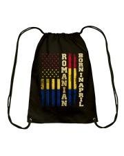 ROMANIAN-BORN-IN-APRIL-COOL Drawstring Bag thumbnail