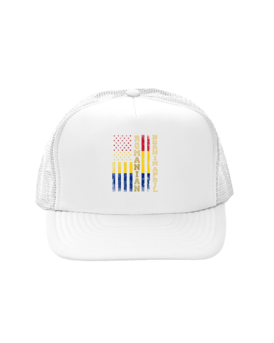 ROMANIAN-BORN-IN-APRIL-COOL Trucker Hat