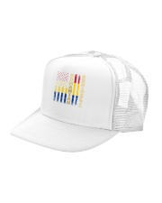 ROMANIAN-BORN-IN-APRIL-COOL Trucker Hat left-angle