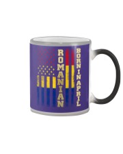 ROMANIAN-BORN-IN-APRIL-COOL Color Changing Mug thumbnail