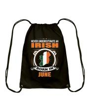 IRISH-JUNE-NEVER-UNDERESTIMATE Drawstring Bag thumbnail