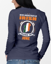 IRISH-JUNE-NEVER-UNDERESTIMATE Long Sleeve Tee lifestyle-unisex-longsleeve-back-3