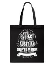 AUSTRIAN-YOU-PERFECT-SEPTEMBER Tote Bag thumbnail