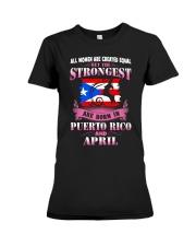 PUERTORICO-STRONG-WOMAN-APRIL Premium Fit Ladies Tee front