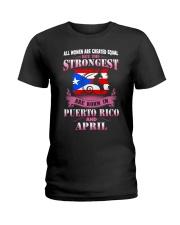 PUERTORICO-STRONG-WOMAN-APRIL Ladies T-Shirt thumbnail