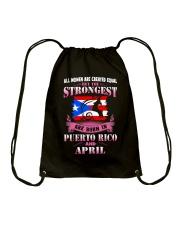 PUERTORICO-STRONG-WOMAN-APRIL Drawstring Bag thumbnail