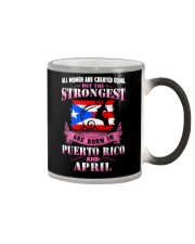 PUERTORICO-STRONG-WOMAN-APRIL Color Changing Mug thumbnail