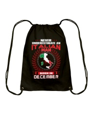 ITALIAN-COOL-MAN-DECEMBER Drawstring Bag thumbnail
