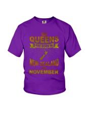 NEWZEALAND-GOLD-QUEES-NOVEMBER Youth T-Shirt thumbnail