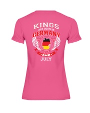 GERMANY-KING-BORN-IN-JULY Premium Fit Ladies Tee thumbnail