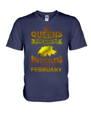SWITZERLAND-GOLD-QUEES-FEBRUARY V-Neck T-Shirt thumbnail