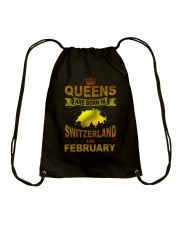 SWITZERLAND-GOLD-QUEES-FEBRUARY Drawstring Bag thumbnail