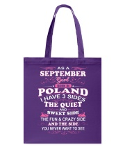 POLAND-QUIET-SEPTEMBER Tote Bag tile