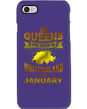 SWITZERLAND-GOLD-QUEES-JANUARY Phone Case thumbnail