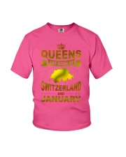 SWITZERLAND-GOLD-QUEES-JANUARY Youth T-Shirt thumbnail