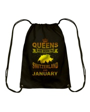 SWITZERLAND-GOLD-QUEES-JANUARY Drawstring Bag thumbnail