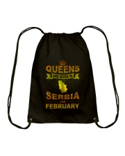 SERBIA-GOLD-QUEES-FEBRUARY Drawstring Bag tile
