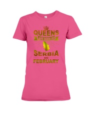 SERBIA-GOLD-QUEES-FEBRUARY Premium Fit Ladies Tee thumbnail