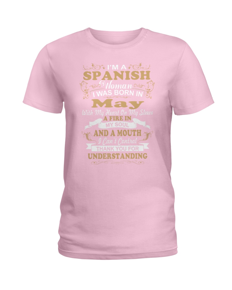 SPANISH-CONT-May Ladies T-Shirt