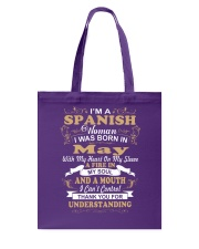 SPANISH-CONT-May Tote Bag tile