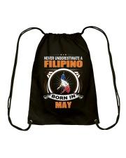 FILIPINO-MAY-NEVER-UNDERESTIMATE Drawstring Bag thumbnail