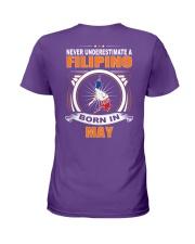 FILIPINO-MAY-NEVER-UNDERESTIMATE Ladies T-Shirt thumbnail