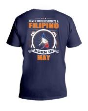 FILIPINO-MAY-NEVER-UNDERESTIMATE V-Neck T-Shirt thumbnail