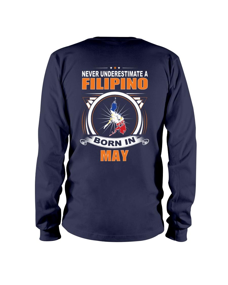FILIPINO-MAY-NEVER-UNDERESTIMATE Long Sleeve Tee