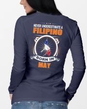 FILIPINO-MAY-NEVER-UNDERESTIMATE Long Sleeve Tee lifestyle-unisex-longsleeve-back-3