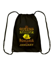 ROMANIA-GOLD-QUEES-JANUARY Drawstring Bag thumbnail