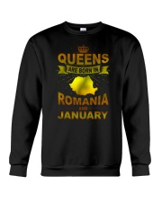 ROMANIA-GOLD-QUEES-JANUARY Crewneck Sweatshirt thumbnail