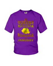 ROMANIA-GOLD-QUEES-JANUARY Youth T-Shirt thumbnail