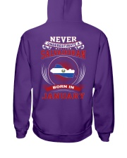 SALVADORAN-NEVER-UNDERESTIMATE-BORN-IN-JANUARY Hooded Sweatshirt thumbnail