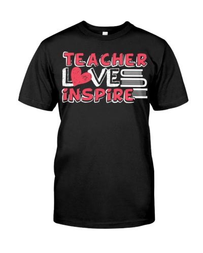Teach Love Inspire Teacher School Tee  Apron