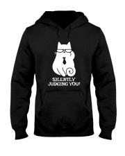SILENTLY JUDGING YOU - CAT Hooded Sweatshirt thumbnail