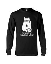 SILENTLY JUDGING YOU - CAT Long Sleeve Tee thumbnail