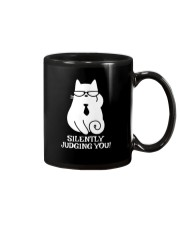SILENTLY JUDGING YOU - CAT Mug thumbnail