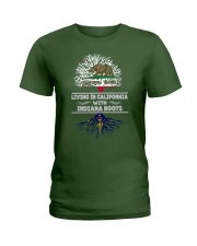 CALIFORNIA WITH INDIANA SHIRTS Ladies T-Shirt front