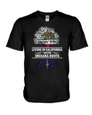 CALIFORNIA WITH INDIANA SHIRTS V-Neck T-Shirt thumbnail