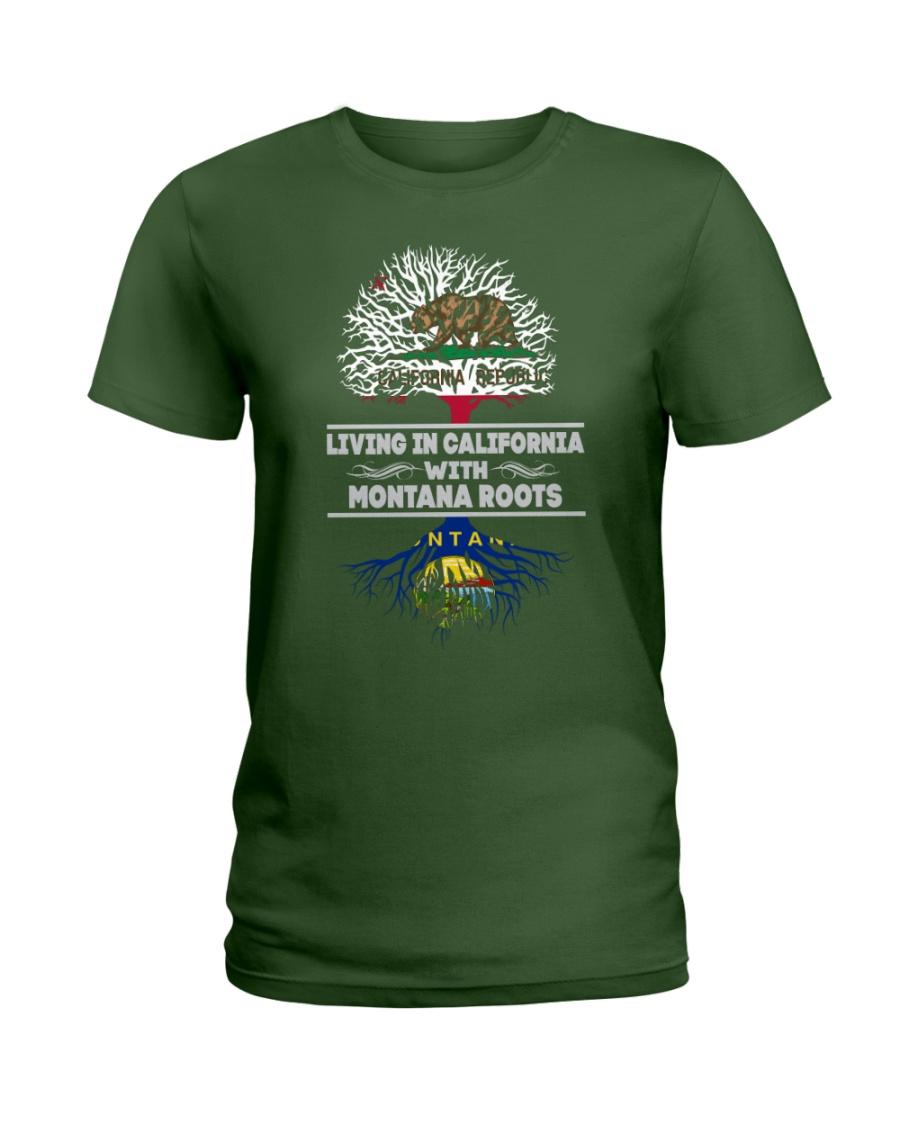 CALIFORNIA WITH MONTANA SHIRTS Ladies T-Shirt