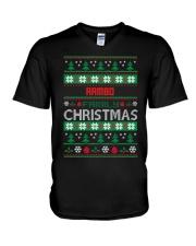 RAMBO FAMILY CHRISTMAS THING SHIRTS V-Neck T-Shirt thumbnail