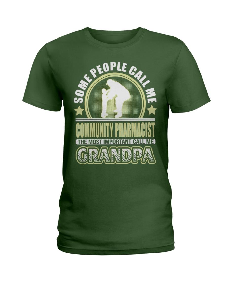 CALL ME COMMUNITY PHARMACIST GRANDPA JOB SHIRTS Ladies T-Shirt