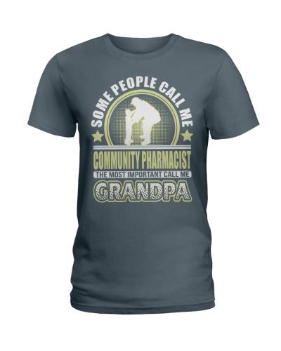 CALL ME COMMUNITY PHARMACIST GRANDPA JOB SHIRTS