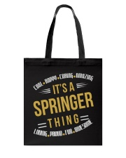 IT IS SPRINGER THING COOL SHIRTS Tote Bag thumbnail