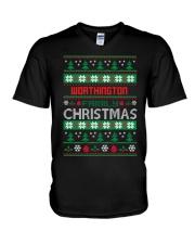 WORTHINGTON FAMILY CHRISTMAS THING SHIRTS V-Neck T-Shirt thumbnail